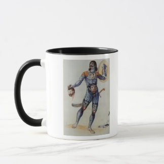 Pictish Man holding a Human Head Mug