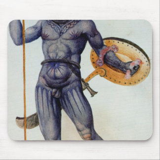 Pictish Man Holding a Shield Mouse Pad