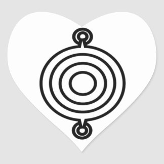 Pictish triple disc heart sticker