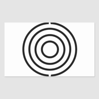 Pictish triple disc rectangle stickers