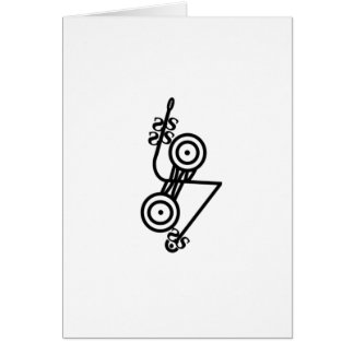Pictish z-rod & discs greeting card