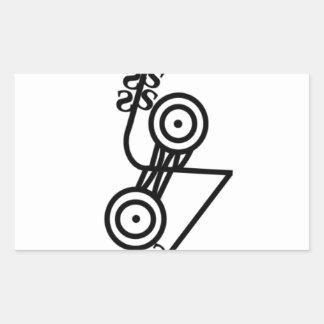 Pictish z-rod discs rectangular sticker