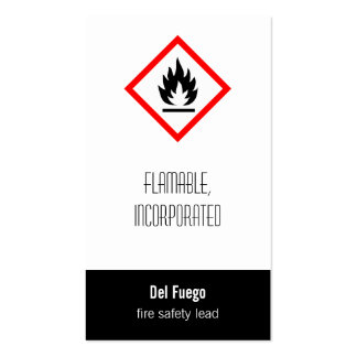 Pictogram [flammable] business cards