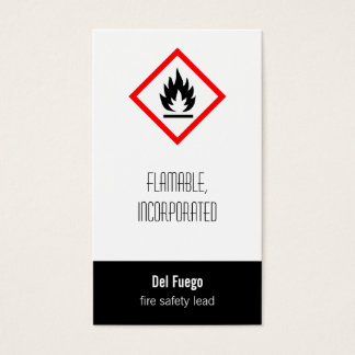 Pictogram [flammable] business card