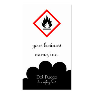 Pictogram [flammable] business card template