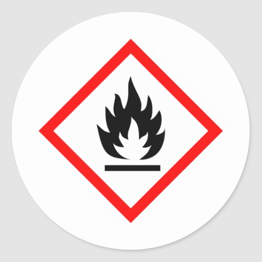 Pictogram [flammable] classic round sticker