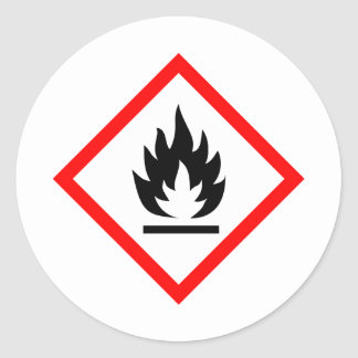 Pictogram [flammable] round stickers