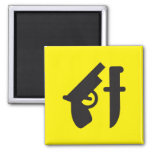 Pictogram Magnet, Gun & Knife