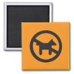 Pictogram Magnet, No Dogs