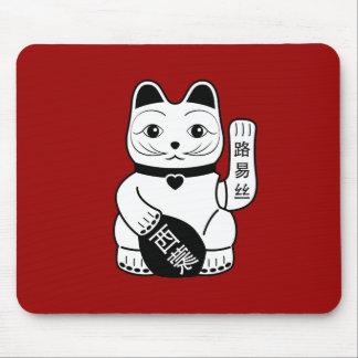 Pictograma afortunado japonés Mousepad del gato