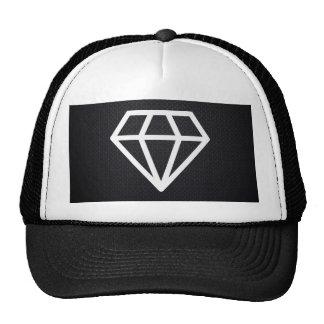 Pictograma blanco de los diamantes gorras