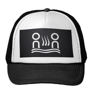 Pictograma caliente de los pares gorras