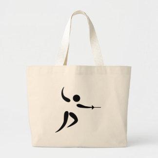 Pictograma de cercado competitivo y olímpico bolsa de mano