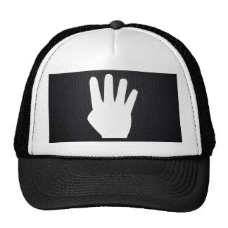 Pictograma de cuatro dedos gorras