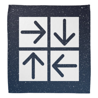 Pictograma de cuatro flechas bandana