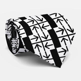 Pictograma de cuatro flechas corbatas personalizadas