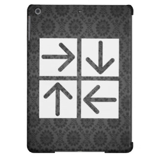 Pictograma de cuatro flechas funda para iPad air