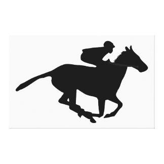 Pictograma de la carrera de caballos impresión en lona