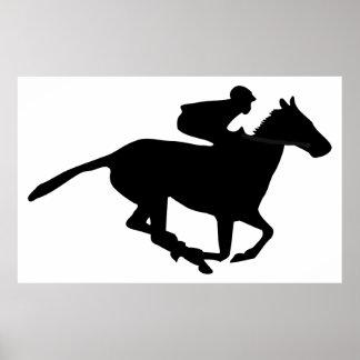 Pictograma de la carrera de caballos impresiones