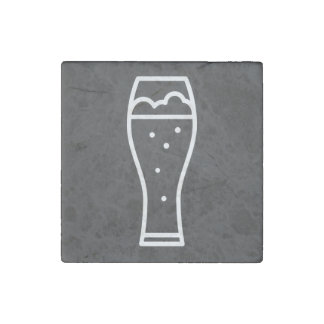 Pictograma de las cajas fuertes de la bebida imán de piedra