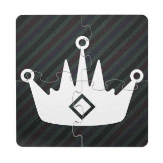 Pictograma de las coronas de los juegos posavasos de puzzle