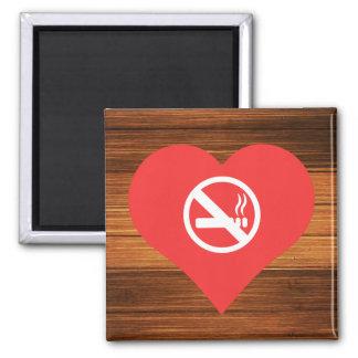 Pictograma de las zonas no de fumadores imán cuadrado