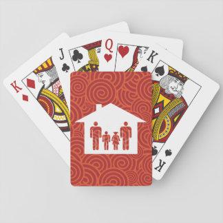 Pictograma de los descendientes de la familia barajas de cartas