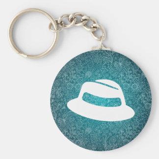 Pictograma de los gorras de Fedora Llavero Redondo Tipo Pin
