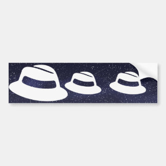 Pictograma de los gorras de Fedora Pegatina Para Auto