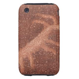 Pictograma del antílope en la pared de la piedra carcasa resistente para iPhone