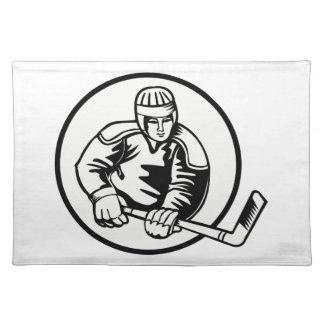 Pictograma del hockey sobre hielo manteles