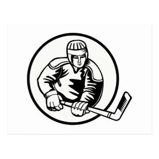 Pictograma del hockey sobre hielo tarjeta postal