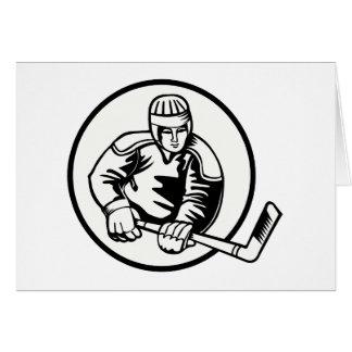 Pictograma del hockey sobre hielo tarjetón