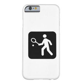 Pictograma del Racquetball del tenis Funda De iPhone 6 Barely There