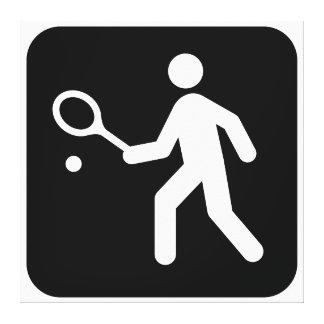 Pictograma del Racquetball del tenis Impresiones En Lona Estiradas