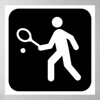 Pictograma del Racquetball del tenis Impresiones
