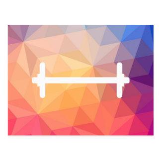 Pictograma delgado de las pesas de gimnasia postal