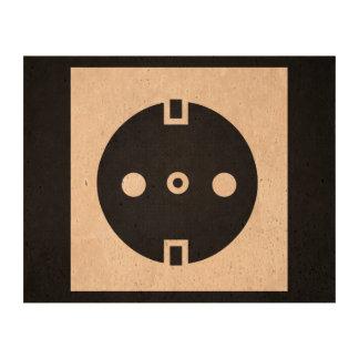 Pictograma eléctrico de los zócalos impresión en corcho