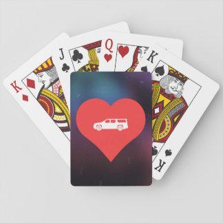 Pictograma fresco de las furgonetas cartas de juego