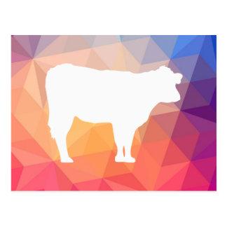 Pictograma importado de las vacas postal