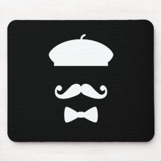 Pictograma Mousepad del bigote y de la boina