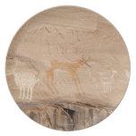 Pictogramas del antílope, de las ovejas y de las plato de cena