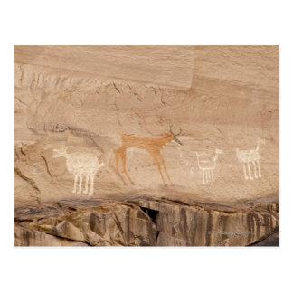 Pictogramas del antílope, de las ovejas y de las tarjetas postales