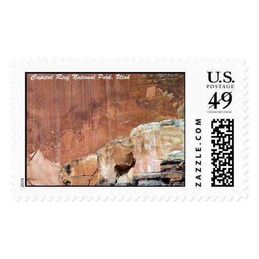Pictogramas en el parque nacional del filón del sello postal
