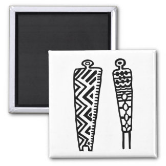 Pictograph Men-BW Refrigerator Magnets