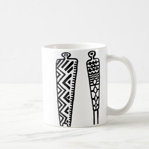 Pictograph Men-BW Mug