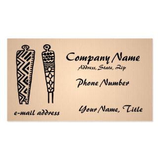 Pictograph Men - linen Business Card