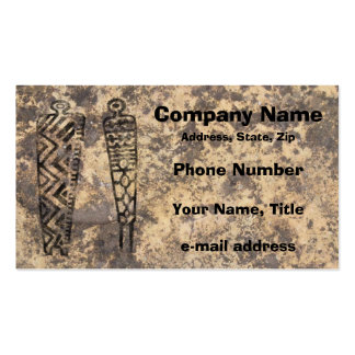 Pictograph Men - stone Business Card