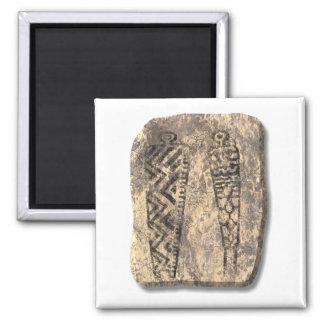 Pictograph men-stone refrigerator magnets