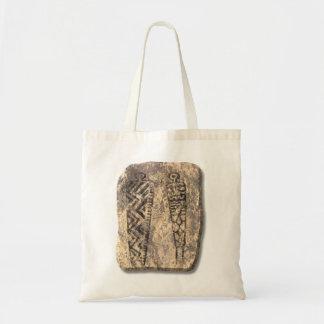 Pictograph men-stone tote bag